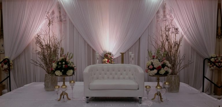 diy wedding drape double valance