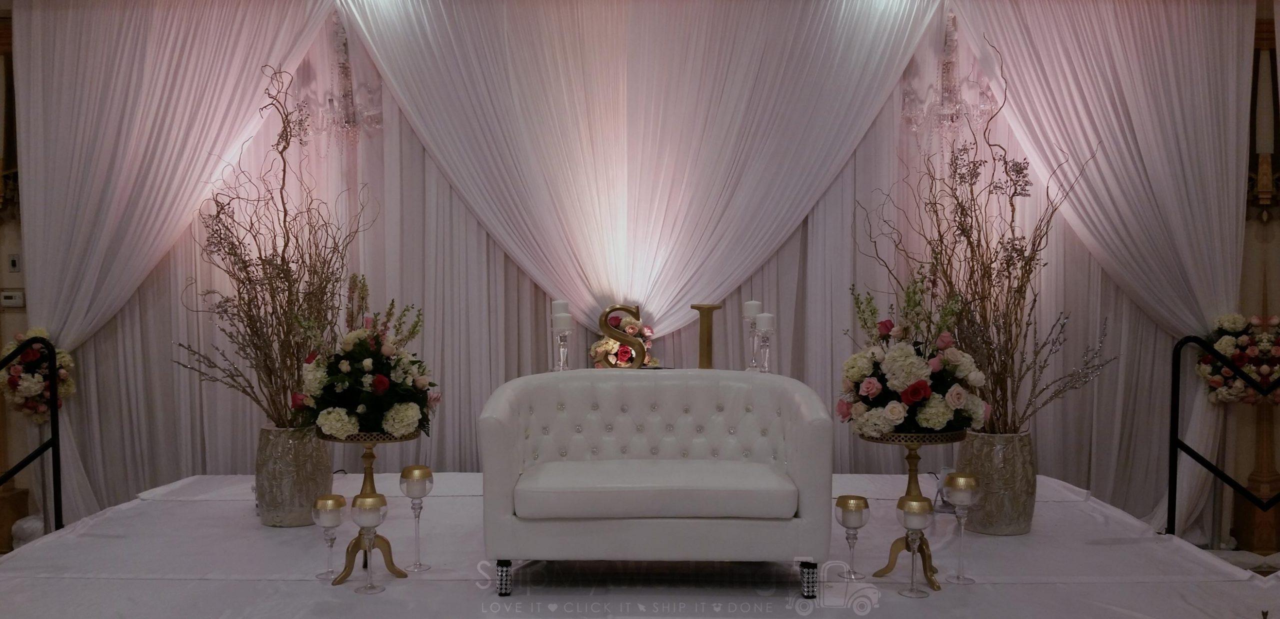 Diy Wedding Drapery Rent Double Valance Backdrop Ships Free