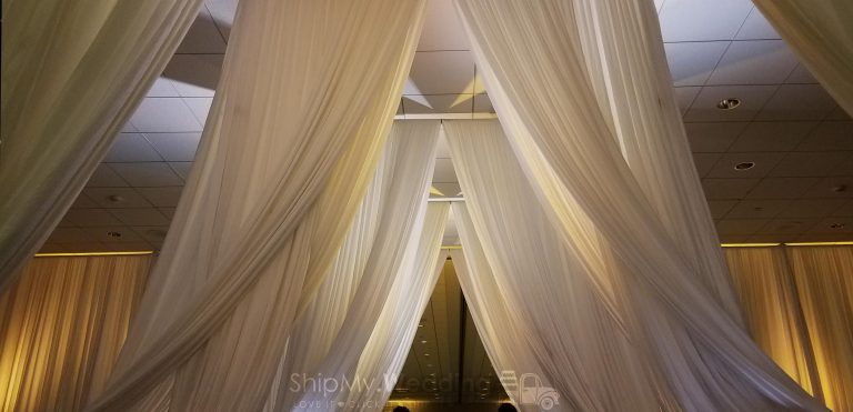 infinity entrance draping