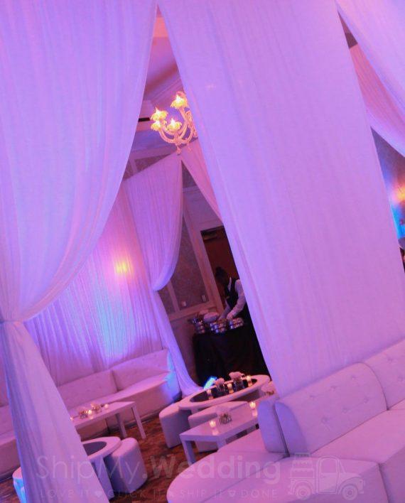 diy lounge cabana draping