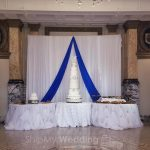 diy wedding drape side single valance