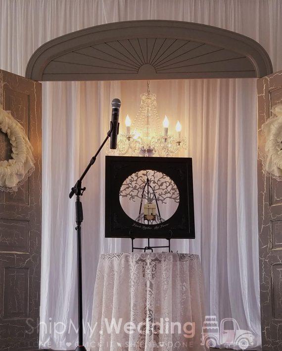 diy wedding pipe drape