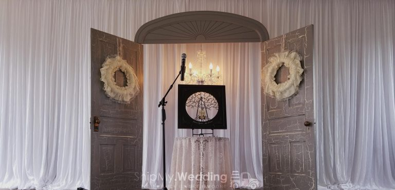 diy wedding pipe drape