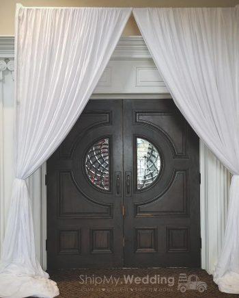 rent diy draped entrances