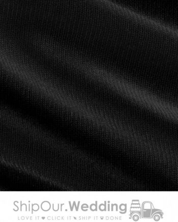 black color drapery fabric