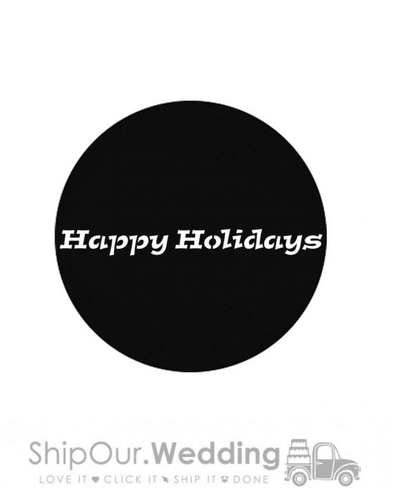 steel gobo happy holidays