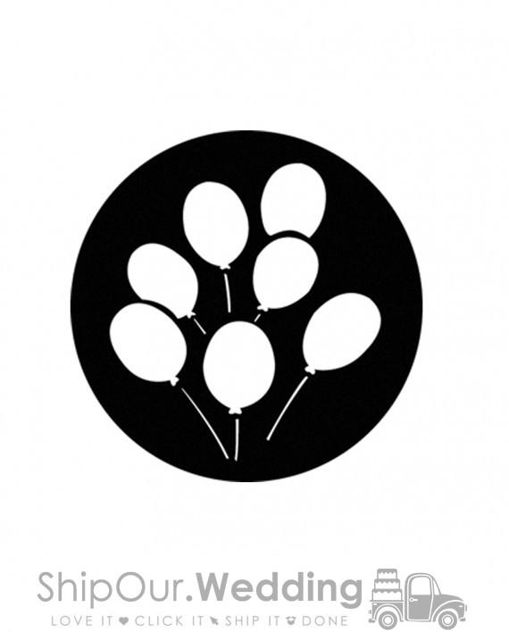 steel gobo large balloons