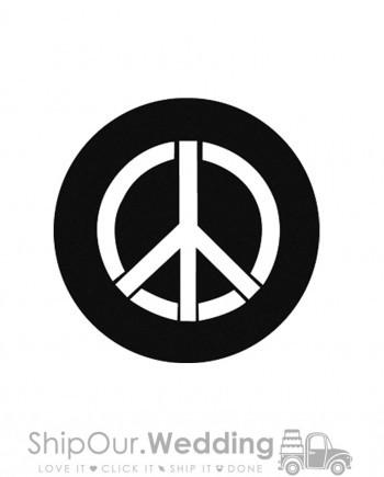 steel gobo peace piece