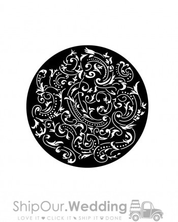 rent steel gobo almost paisley
