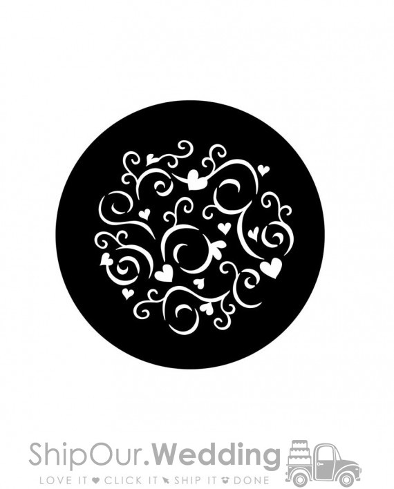 steel gobo frilly hearts