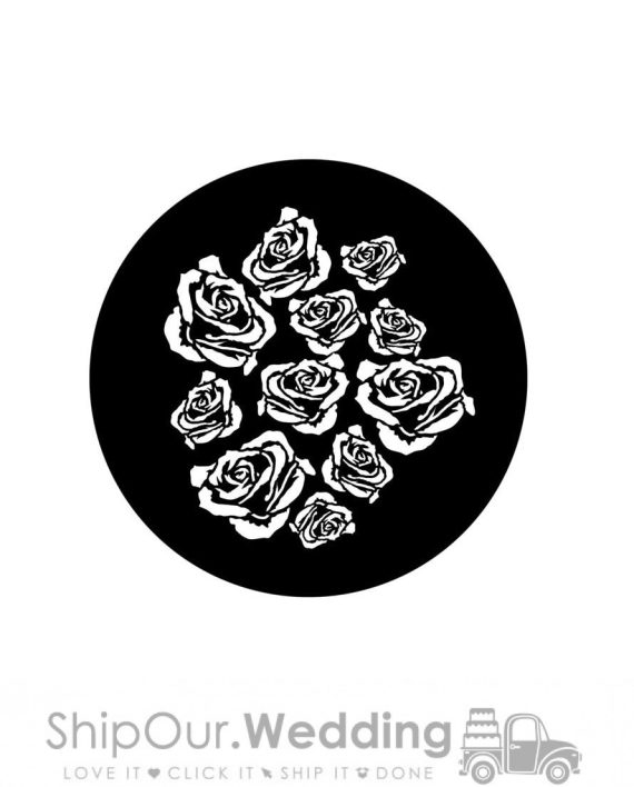 steel gobo breakup roses