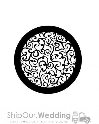 steel gobo curly art