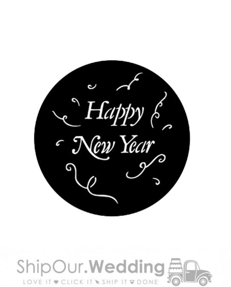 steel gobo happy new year
