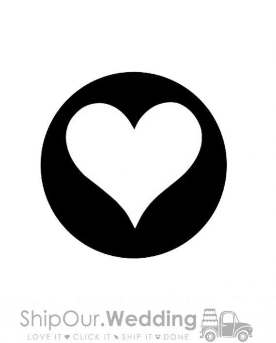 steel gobo heart