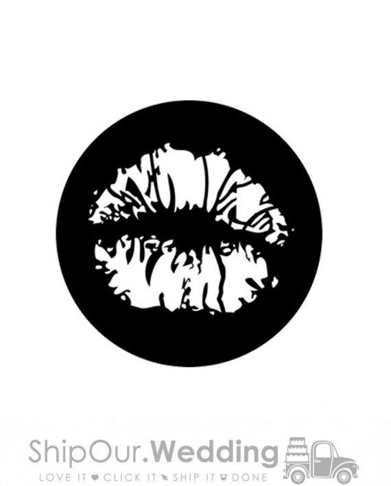 steel gobo kiss lips