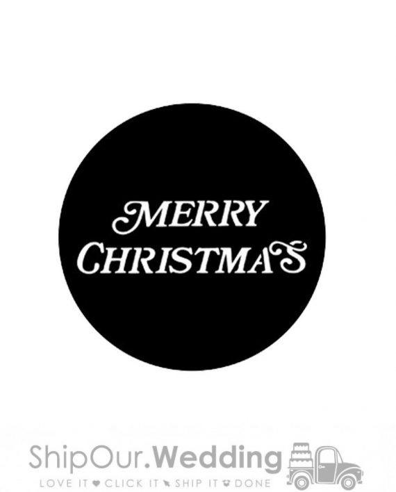 steel gobo merry christmas