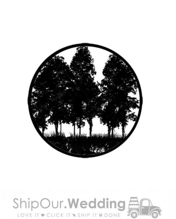 steel gobo tree silhouette