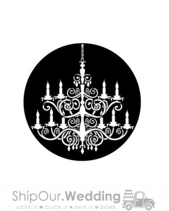 steel gobo victorian chandelier