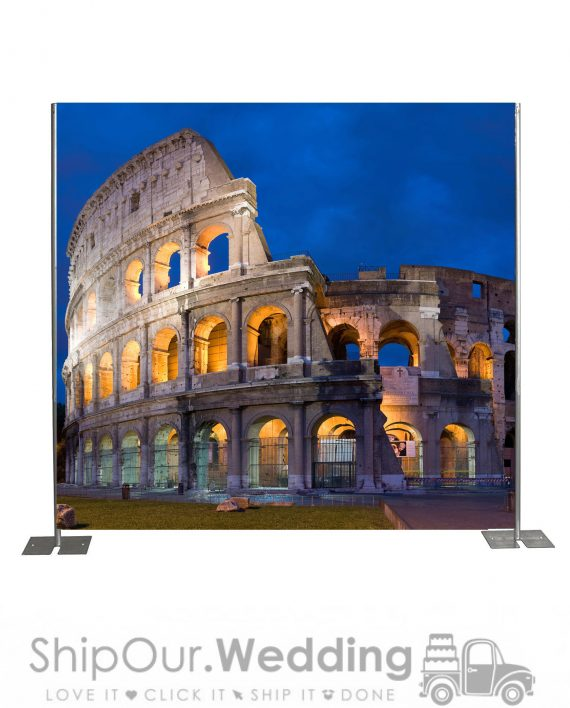 Colosseum Rome step repeat backdrop