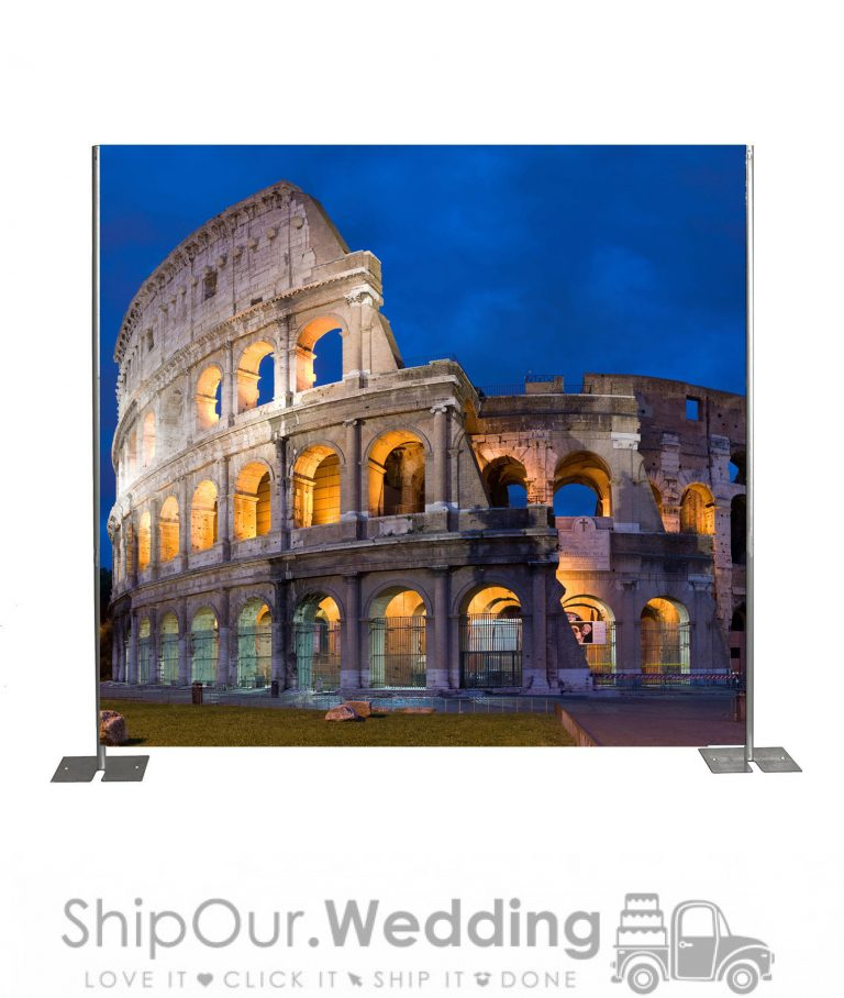 Colosseum Rome step repeat backdrop