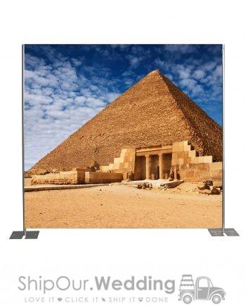 Giza pyramid step repeat backdrop