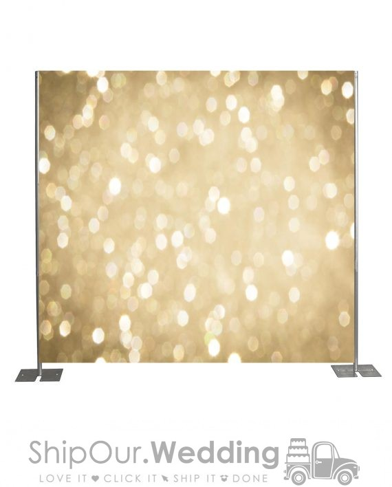 gold step repeat backdrop