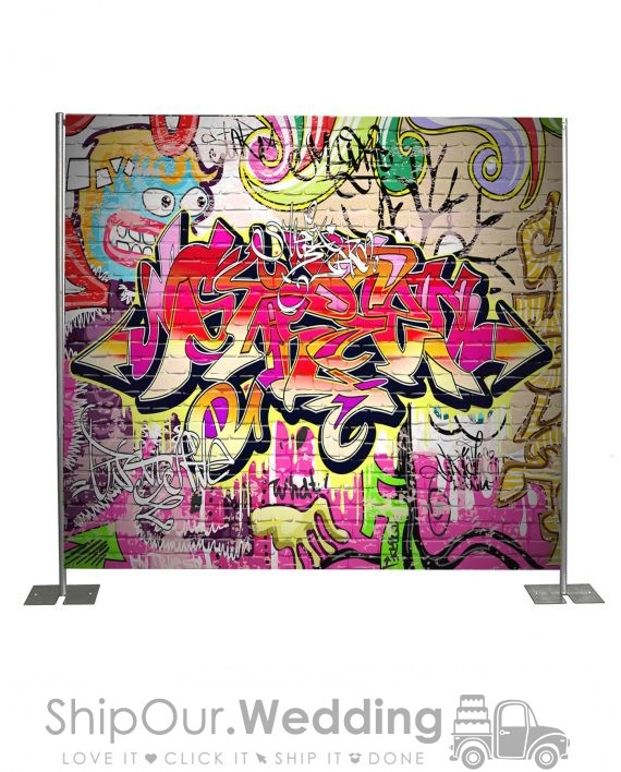 graffiti step repeat backdrop