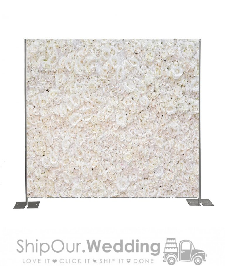flower wall step repeat backdrop