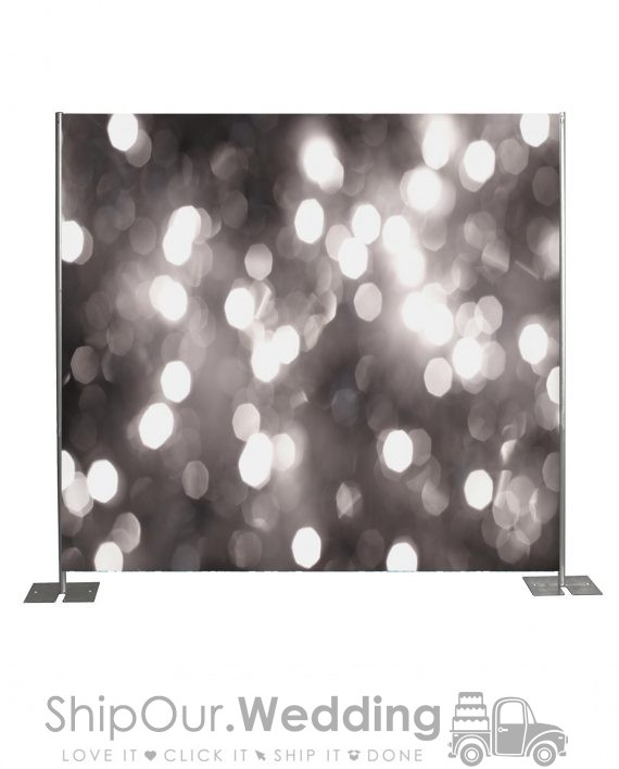 light silver step repeat backdrop