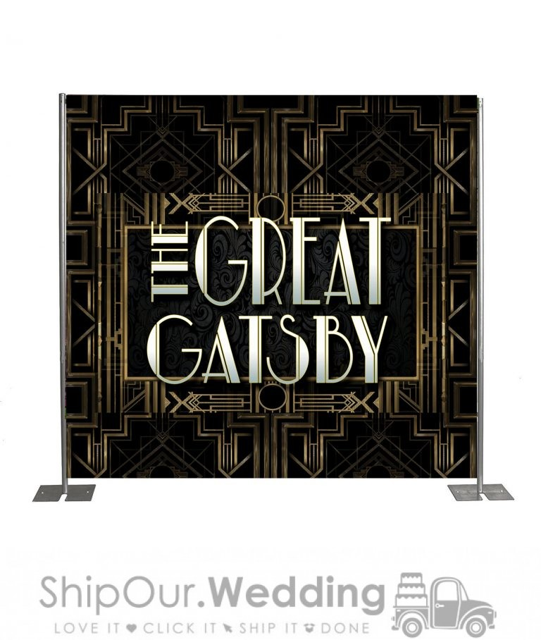 Gatsby step repeat backdrop