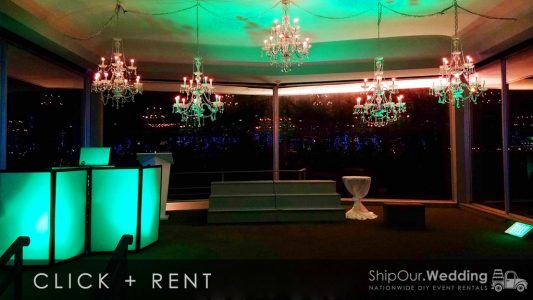 mint_green_uplights_at_wedding